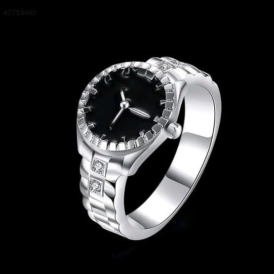 moteriškas laikrodis žiedas
